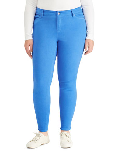 Lauren Ralph Lauren Plus High-Rise Skinny Jeans-BLUE-22W