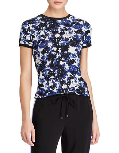 Lauren Ralph Lauren Petite Floral-Print Jersey Top-ASSORTED-Petite Medium