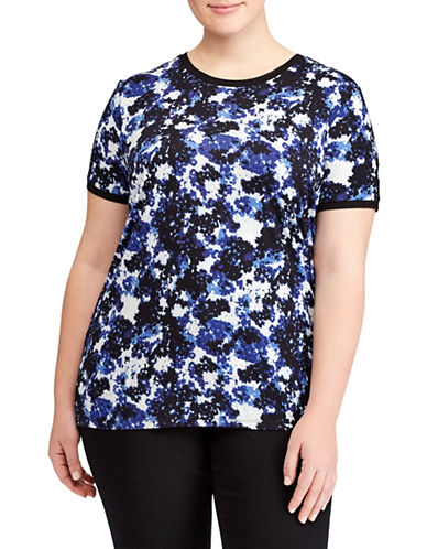 Lauren Ralph Lauren Plus Floral Jersey Top-ASSORTED-1X