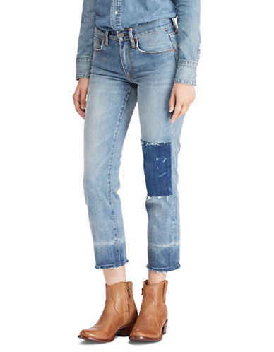Polo Ralph Lauren Straight Patch Crop Jeans-BLUE-26