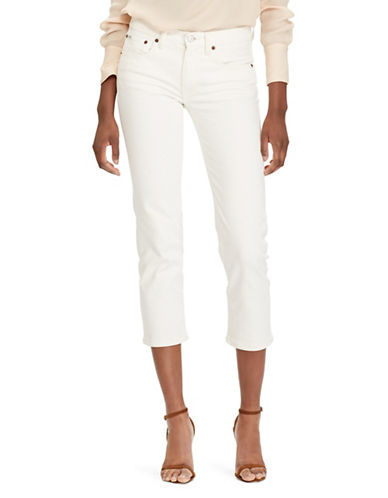 Polo Ralph Lauren Waverly Straight Cropped Jeans-WHITE-26
