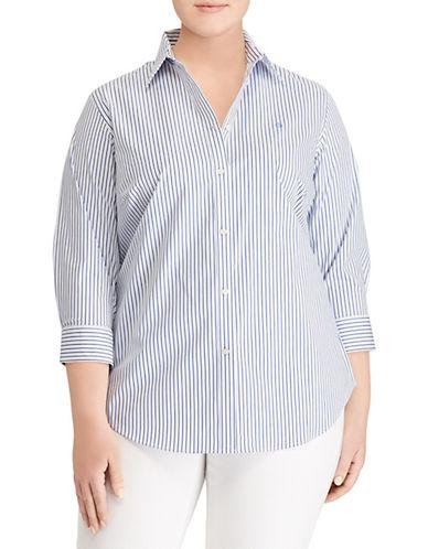 Lauren Ralph Lauren Plus Stretch Striped Shirt 90109099