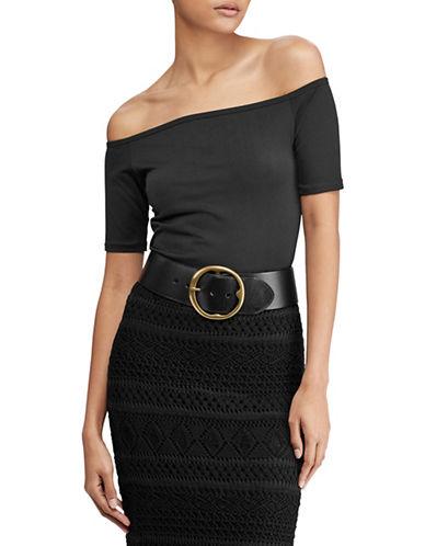 Polo Ralph Lauren Knit-Off-The-Shoulder Top-BLACK-Medium 89939382_BLACK_Medium