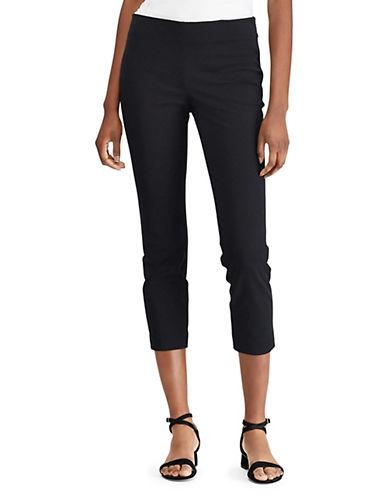 Lauren Ralph Lauren Skinny Cropped Pants-BLACK-12 90089425_BLACK_12