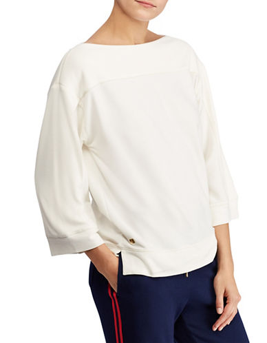 Lauren Ralph Lauren Oversized Boat Neck Sweater-CREAM-X-Small