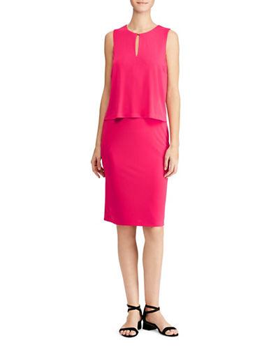 Lauren Ralph Lauren Sleeveless Knee-Length Dress-PINK-Medium 89956171_PINK_Medium