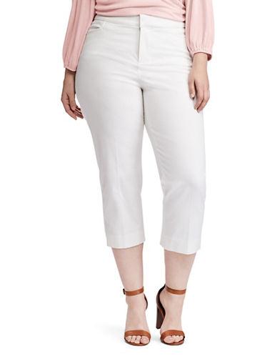 Chaps Plus Slim-Fit Stretch Twill Capri Pants-WHITE-18W 89835907_WHITE_18W