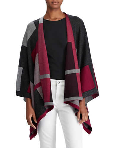 Lauren Ralph Lauren Plaid Open-Front Cape-ASSORTED-Large/X-Large