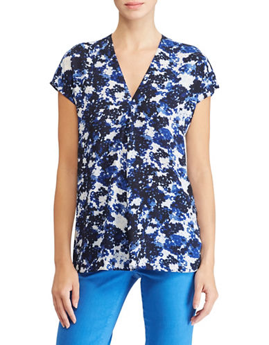 Lauren Ralph Lauren Printed Georgette Top-ASSORTED-Medium