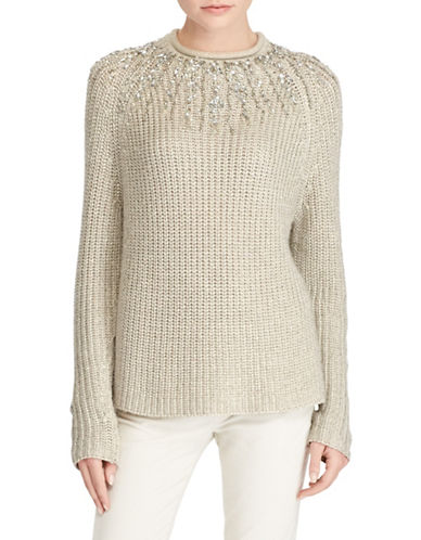 Polo Ralph Lauren Beaded Rollneck Sweater-NATURAL-Large