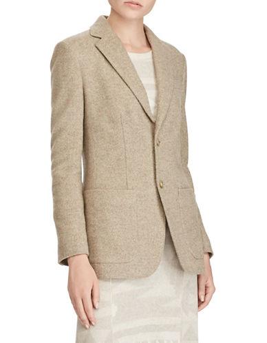 Polo Ralph Lauren Italian Tweed Blazer-BEIGE-10