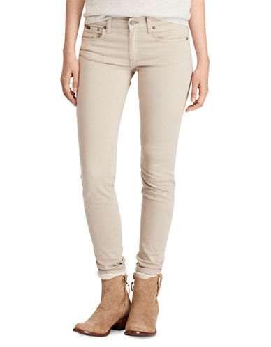 Polo Ralph Lauren Tompkins Sateen Skinny Jeans-NATURAL-28
