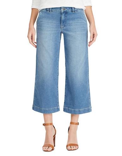 Chaps Wide-Leg Stretch Capri Jeans-BLUE-14