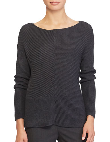 Lauren Ralph Lauren Ribbed Knit Pullover-GREY-X-Large