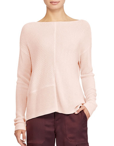 Lauren Ralph Lauren Ribbed Knit Pullover-PINK-Small