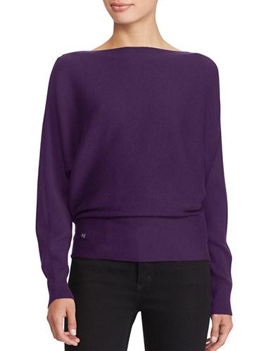 Lauren Ralph Lauren Dolman-Sleeve Sweater-PURPLE-Small
