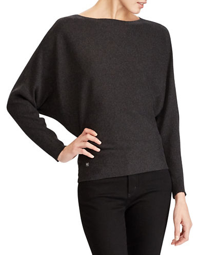 Lauren Ralph Lauren Dolman-Sleeve Sweater-GREY-Medium