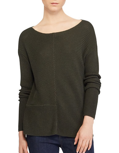 Lauren Ralph Lauren Ribbed Knit Pullover-GREEN-Medium