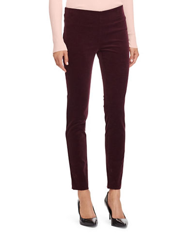 Lauren Ralph Lauren Stretch Corduroy Skinny Pants-RED-14