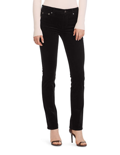 Lauren Ralph Lauren Premier Straight Corduroy Jeans-BROWN-12