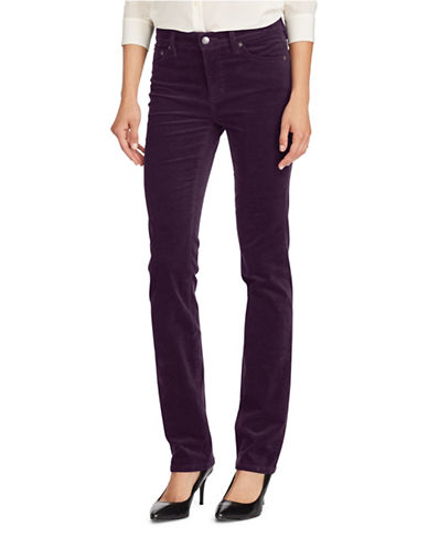 Lauren Ralph Lauren Premier Straight Corduroy Jeans-PURPLE-14