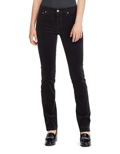 Lauren Ralph Lauren Premier Straight Corduroy Jeans-GREY-2