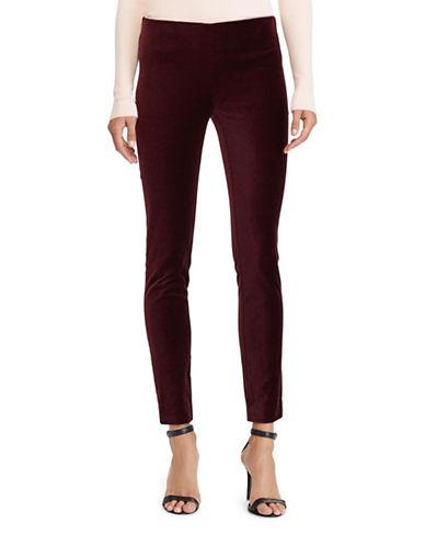 Lauren Ralph Lauren Velvet Skinny Pants-RED-4