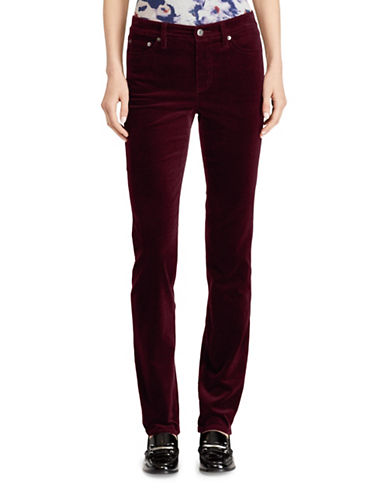 Lauren Ralph Lauren Premier Straight Curvy Corduroy Jeans-RED-10