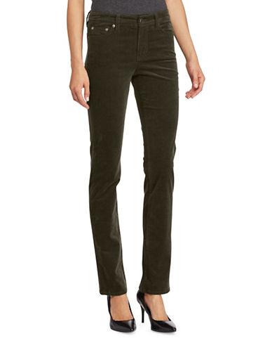 Lauren Ralph Lauren Premier Straight Curvy Corduroy Jeans-GREEN-10