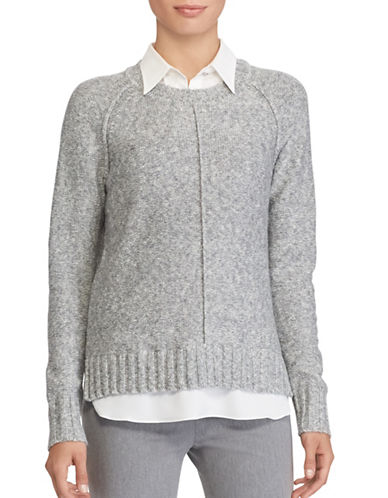Lauren Ralph Lauren Layered Sweater-GREY-Medium