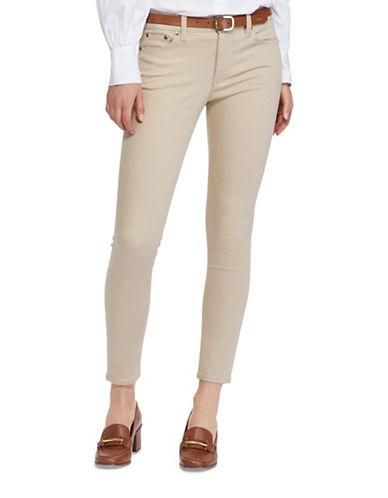 Lauren Ralph Lauren Premier Skinny High Rise Crop Jeans-BEIGE-12