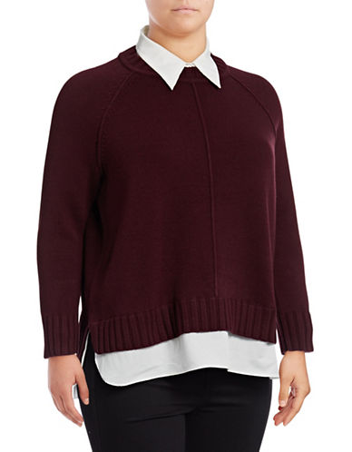 Lauren Ralph Lauren Plus Gristin Long-Sleeve Sweater-RED-1X