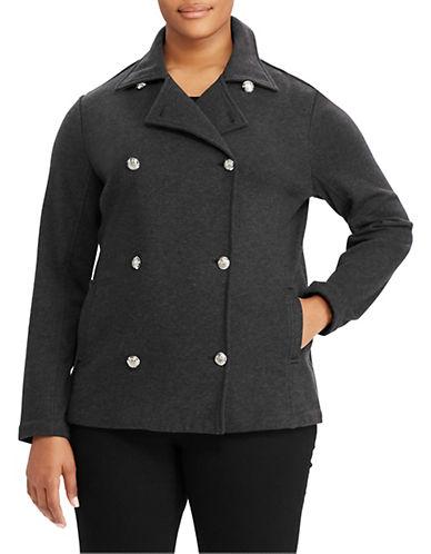 Lauren Ralph Lauren Plus Cotton French Terry Peacoat-GREY-1X 89610822_GREY_1X