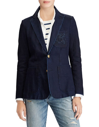 Polo Ralph Lauren Slim Denim Blazer-NAVY-2