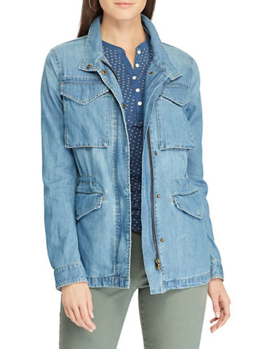 Chaps Denim Field Jacket-BLUE-Large