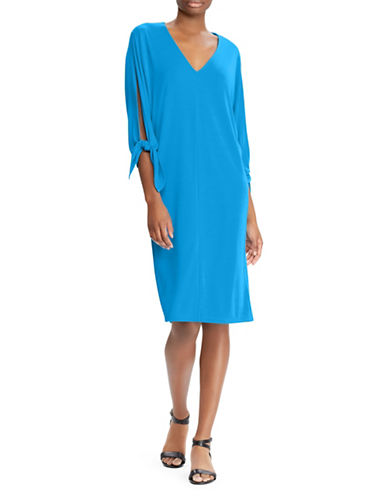 Lauren Ralph Lauren Stretch Jersey Dolman Dress-BLUE-X-Large