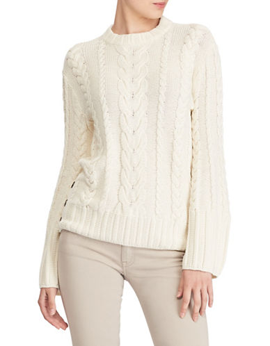Polo Ralph Lauren Aran Cotton Dolman Sweater-NATURAL-X-Small