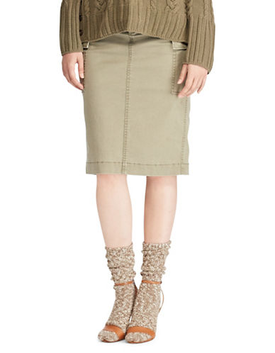 Polo Ralph Lauren Stretch Twill Cargo Skirt-GREEN-10