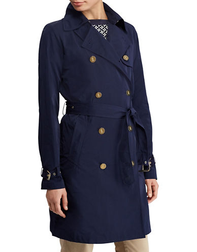 Lauren Ralph Lauren Water-Repellent Trench Coat-NAVY-4