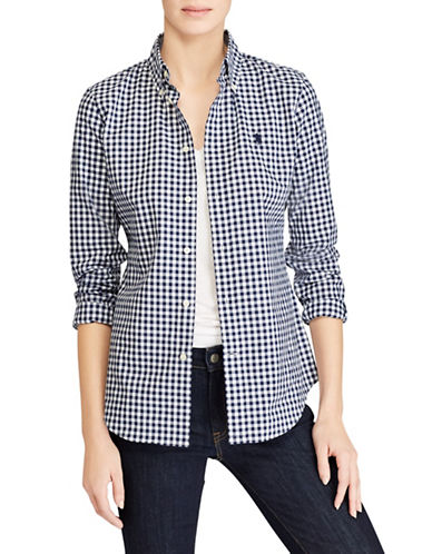 Polo Ralph Lauren Gingham Poplin Shirt-NAVY-14