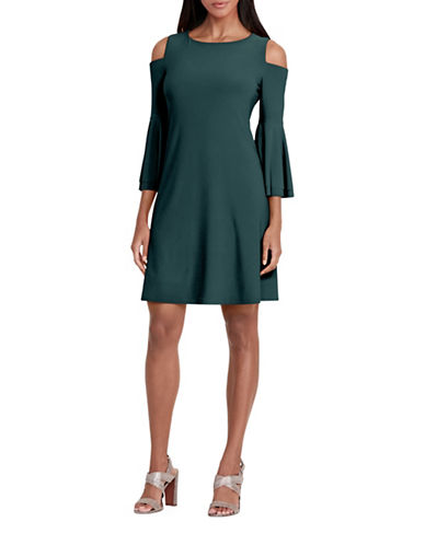 Lauren Ralph Lauren Polka Dot Jersey Dress-GREEN-10