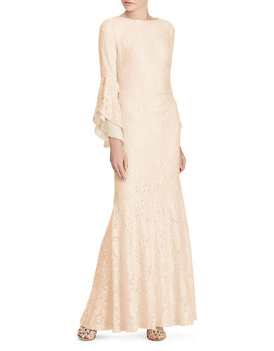 Lauren Ralph Lauren Sequined Lace Gown-CHAMPAGNE-12