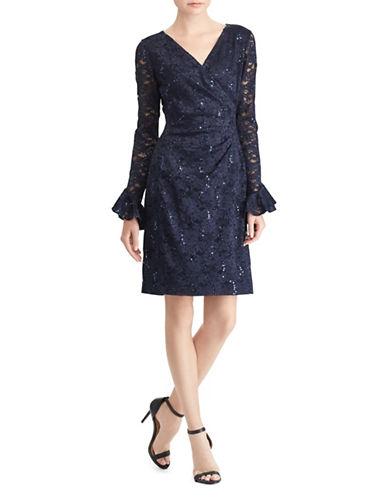 Lauren Ralph Lauren Long-Sleeve Day Dress-BLUE-14