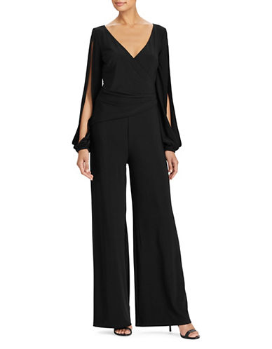 Lauren Ralph Lauren Wide-Leg Jersey Jumpsuit-BLACK-16