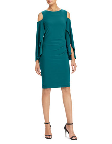 Lauren Ralph Lauren Jersey Cold-Shoulder Dress-BLUE-2