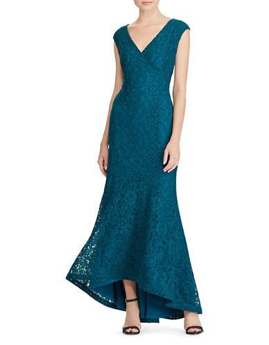 Lauren Ralph Lauren Floral Lace Gown-BLUE-8