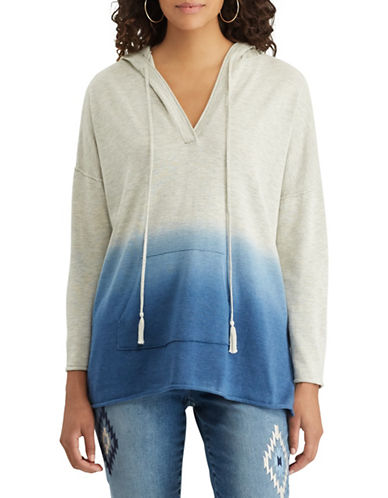 Chaps Dip-Dyed Jersey Hoodie-BLUE-Medium