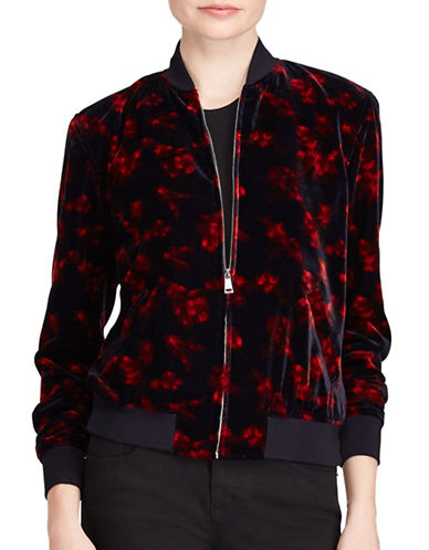 Lauren Ralph Lauren Floral Velvet Bomber Jacket-ASSORTED-Medium