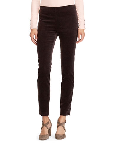 Lauren Ralph Lauren Stretch Corduroy Skinny Pants-BROWN-10