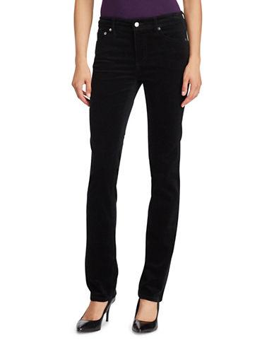 Lauren Ralph Lauren Premier Straight Corduroy Jeans-BLACK-12